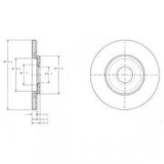 Тормозной диск DELPHI BG3421