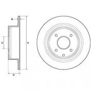 Тормозной диск DELPHI BG4666C