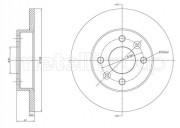 Тормозной диск METELLI 23-0082