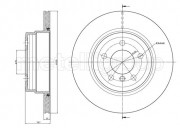 Тормозной диск METELLI 23-1025C