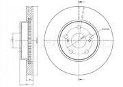 Гальмівний диск METELLI 23-0646C