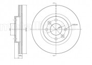 Гальмівний диск METELLI 23-0549C