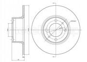 Гальмівний диск METELLI 23-0043