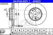 Тормозной диск ATE 24.0124-0222.1
