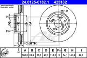 Тормозной диск ATE 24.0125-0188.1