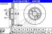 Тормозной диск ATE 24.0124-0181.1