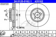 Тормозной диск ATE 24.0125-0165.1