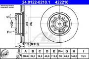 Тормозной диск ATE 24.0122-0215.1