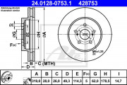 Тормозной диск ATE 24.0130-0173.1
