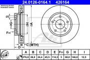 Тормозной диск ATE 24.0126-0165.1