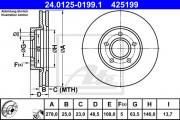 Тормозной диск ATE 24.0125-0200.1