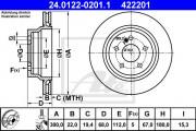 Тормозной диск ATE 24.0122-0210.1