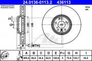 Тормозной диск ATE 24.0136-0118.2