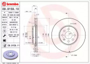 Гальмівний диск BREMBO 09.9159.10