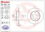 Тормозной диск BREMBO 08.7627.11