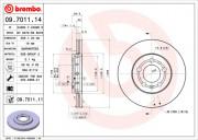 Гальмівний диск BREMBO 09.7011.11