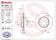 Гальмівний диск BREMBO 09.3090.11