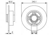 Тормозной диск BOSCH 0986479S37