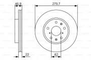 Тормозной диск BOSCH 0986479S58