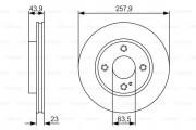 Тормозной диск BOSCH 0986479S38