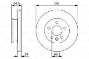 Тормозной диск BOSCH 0986479S80