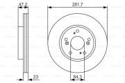 Тормозной диск BOSCH 0986479S47