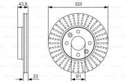 Тормозной диск BOSCH 0986479S90