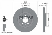 Тормозной диск TEXTAR 92082305