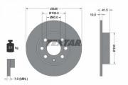 Гальмівний диск TEXTAR 92020800