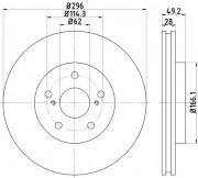 Гальмівний диск TEXTAR 92135800