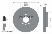 Гальмівний диск TEXTAR 92228903