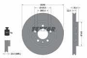 Тормозной диск TEXTAR 92098603