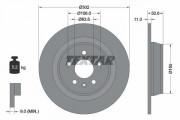 Тормозной диск TEXTAR 92159303