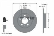 Тормозной диск TEXTAR 92105803