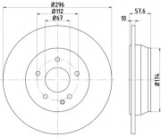 Тормозной диск TEXTAR 93123503