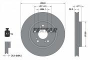 Гальмівний диск TEXTAR 92184803