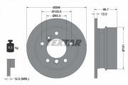 Гальмівний диск TEXTAR 92137503