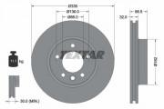 Гальмівний диск TEXTAR 92121605