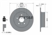 Тормозной диск TEXTAR 92174903