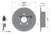 Тормозной диск TEXTAR 92132103