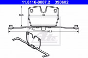 Монтажный комплект тормозных колодок ATE 11.8116-0007.2
