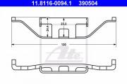 Монтажный комплект тормозных колодок ATE 11.8116-0094.1