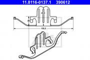 Монтажный комплект тормозных колодок ATE 11.8116-0137.1