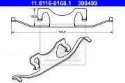 Монтажный комплект тормозных колодок ATE 11.8116-0168.1