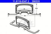 Монтажный комплект тормозных колодок ATE 11.8116-0347.2