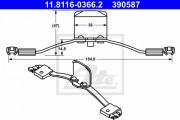 Монтажный комплект тормозных колодок ATE 11.8116-0366.2