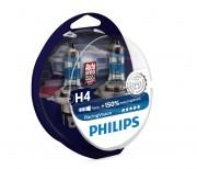 Philips Комплект галогенних ламп Philips Racing Vision 12342RVS2 +150% (H4)