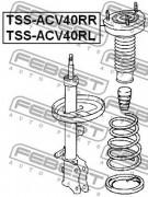 Опора амортизатора FEBEST TSS-ACV40RL
