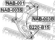 Кульова опора FEBEST 0220-B15