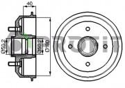 Тормозной барабан PROFIT 5020-0022
